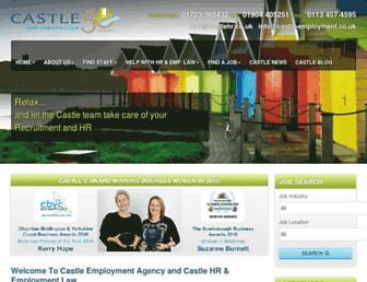 castle-employment.co.uk screenshot