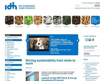 idhsustainabletrade.com screenshot