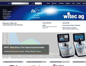 Main page screenshot of witec.ch