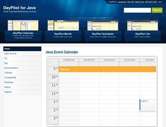 java.daypilot.org screenshot