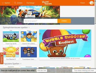Main page screenshot of hyves.nl