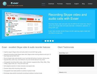 evaer.com screenshot