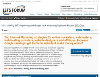letsforum.com screenshot