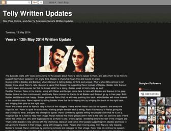indiantelevisionwrittenupdates.blogspot.com screenshot