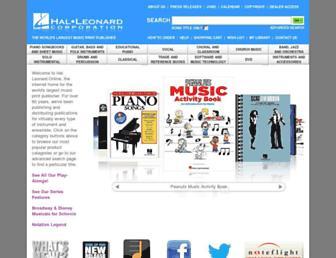 halleonard.com screenshot