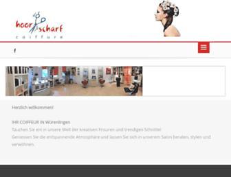 hoorscharf-coiffure.ch screenshot