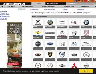 ultimatespecs.com screenshot
