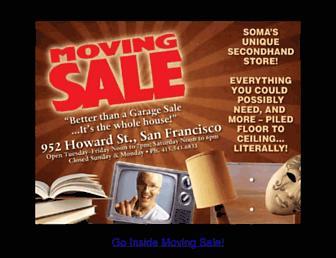 Main page screenshot of movingsale.biz