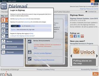 digimap.edina.ac.uk screenshot