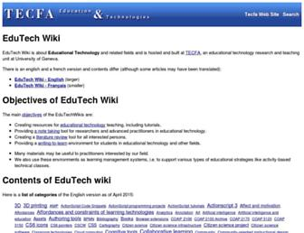 edutechwiki.unige.ch screenshot