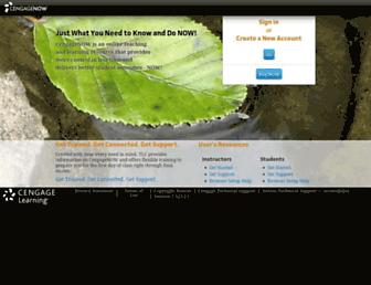 Thumbshot of Cengagenow.com