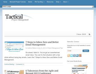 tacticalprojectmanagement.com screenshot