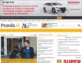 Fullscreen thumbnail of pravda.sk