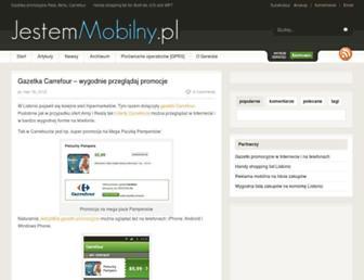 Main page screenshot of jestemmobilny.pl
