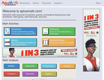 Thumbshot of Aplusmath.com