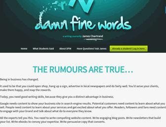 Thumbshot of Damnfinewords.com