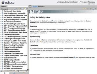 help.eclipse.org screenshot