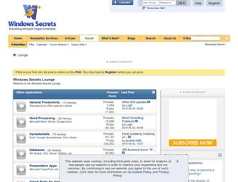 forums.windowssecrets.com screenshot