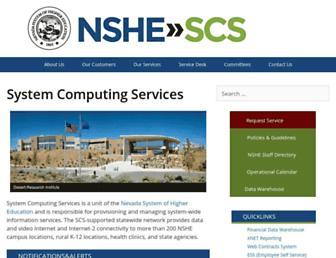 scs.nevada.edu screenshot