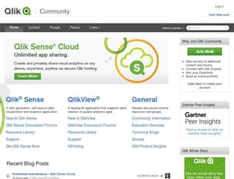 community.qlik.com screenshot