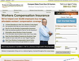 workerscompensationshop.com screenshot