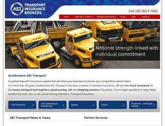 aeitransport.com.au screenshot