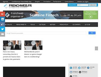 Main page screenshot of frenchweb.fr