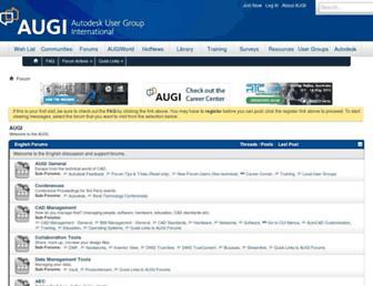 forums.augi.com screenshot