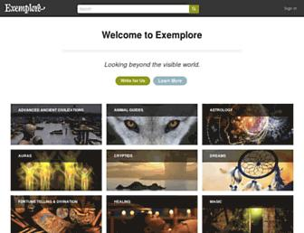 exemplore.com screenshot