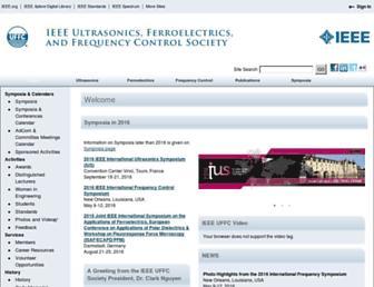 Main page screenshot of ieee-uffc.org
