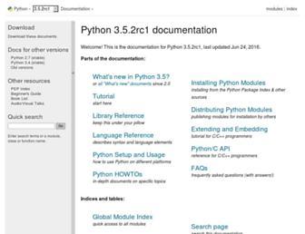 docs.python.org screenshot