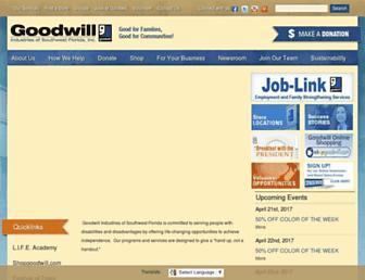 goodwillswfl.org screenshot