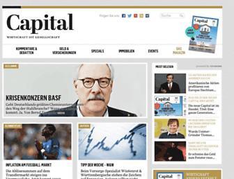 Main page screenshot of capital.de