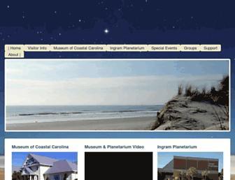 Main page screenshot of museumplanetarium.org