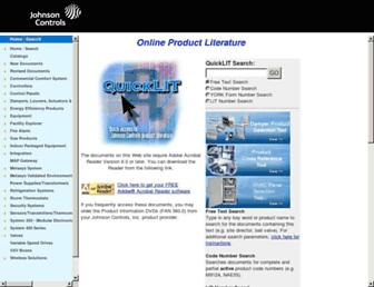 cgproducts.johnsoncontrols.com screenshot