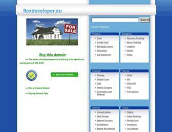 Main page screenshot of flexdeveloper.eu