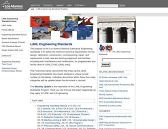 engstandards.lanl.gov screenshot