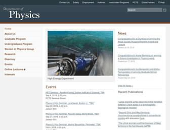 Main page screenshot of wwwphy.princeton.edu