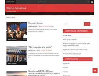 Main page screenshot of lobosdiario.com.ar