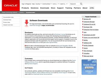 download.oracle.com screenshot