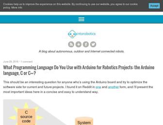 intorobotics.com screenshot