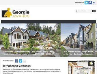 georgieawards.ca screenshot