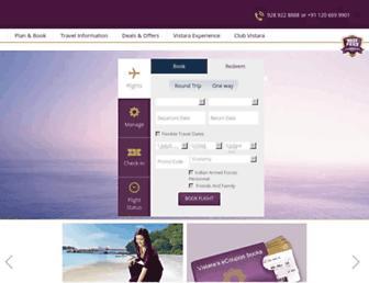 airvistara.com screenshot