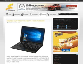 Main page screenshot of laptops.techfresh.net