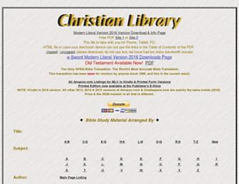 christianlibrary.org screenshot