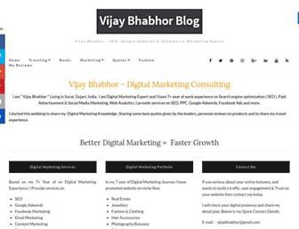vijaybhabhor.com screenshot