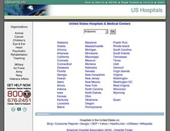 Main page screenshot of ushospital.info