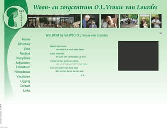 Main page screenshot of olvlourdes.be