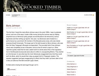 Main page screenshot of crookedtimber.org