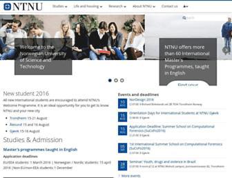 ntnu.edu screenshot